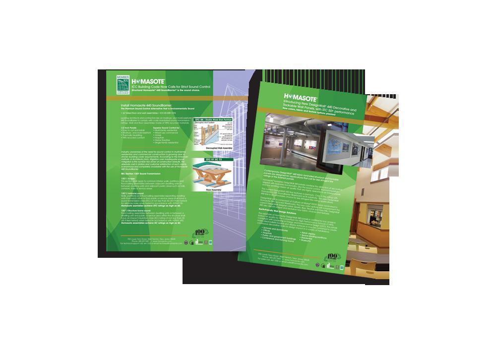 Homasote Sales Sheets