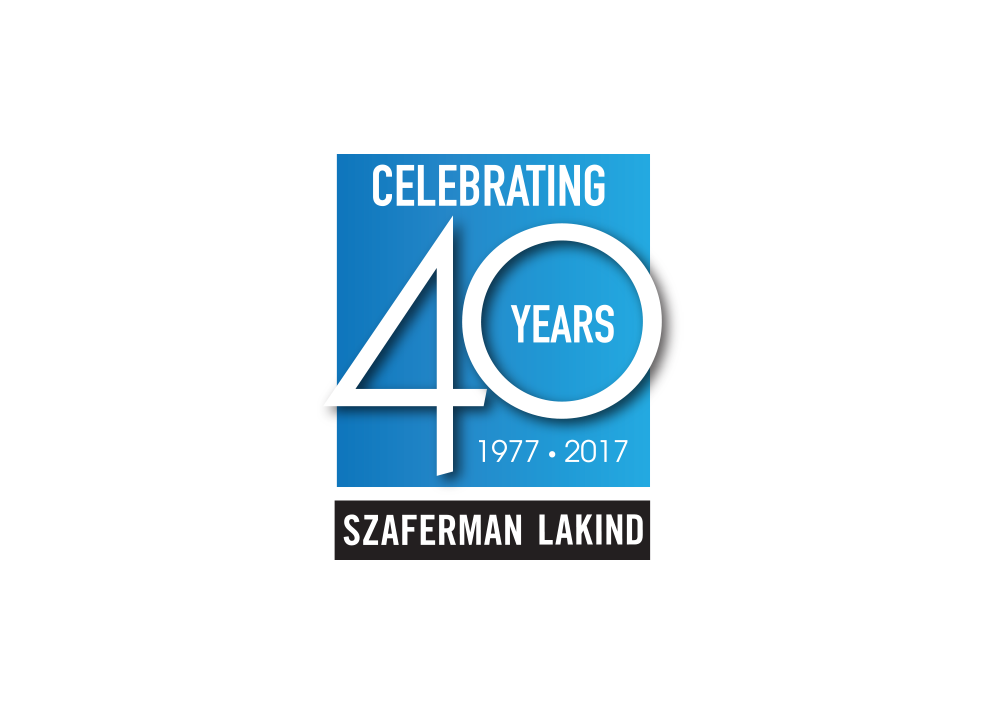 Szaferman Lakind 40th Anniversary Logo