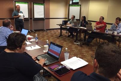 CMA CEO and President Jeffrey Barnhart leads a strategic marketing session