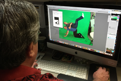 Dave working on CMA's Holiday Card