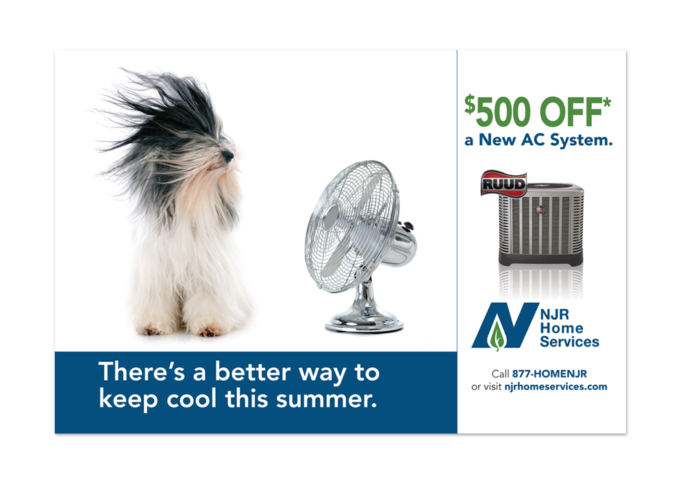 NJR Home Services AC Replacement Direct Mail