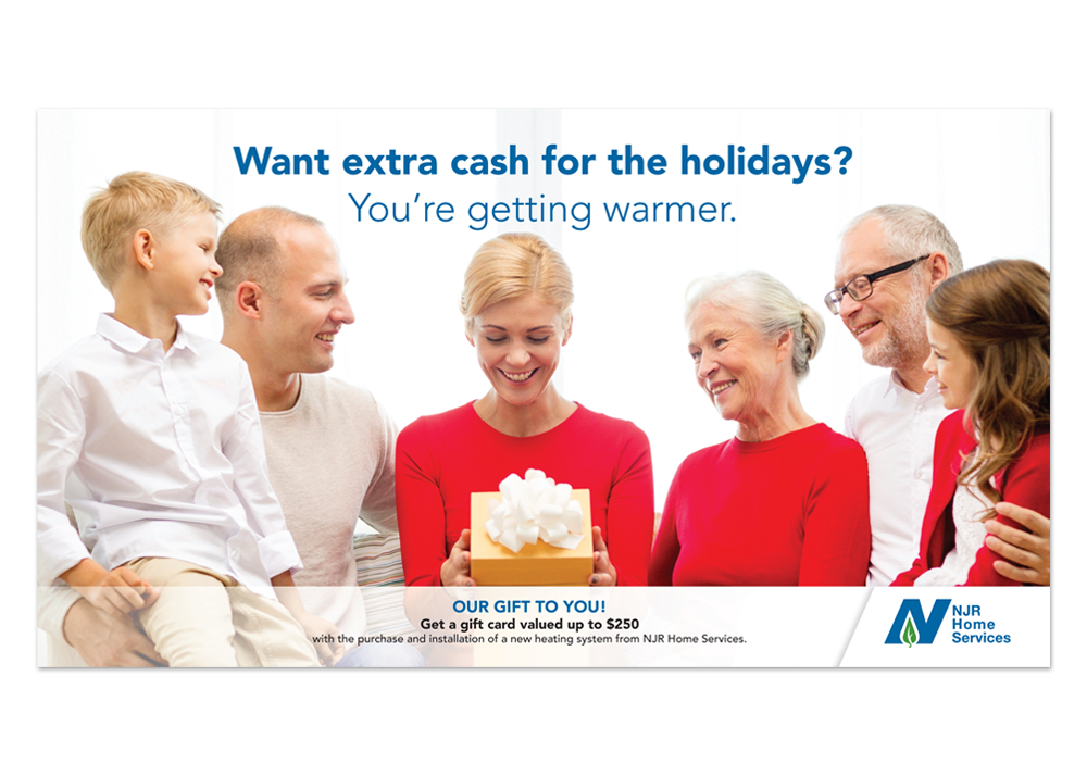 NJR Home Services Holiday Gift Card Direct Mail
