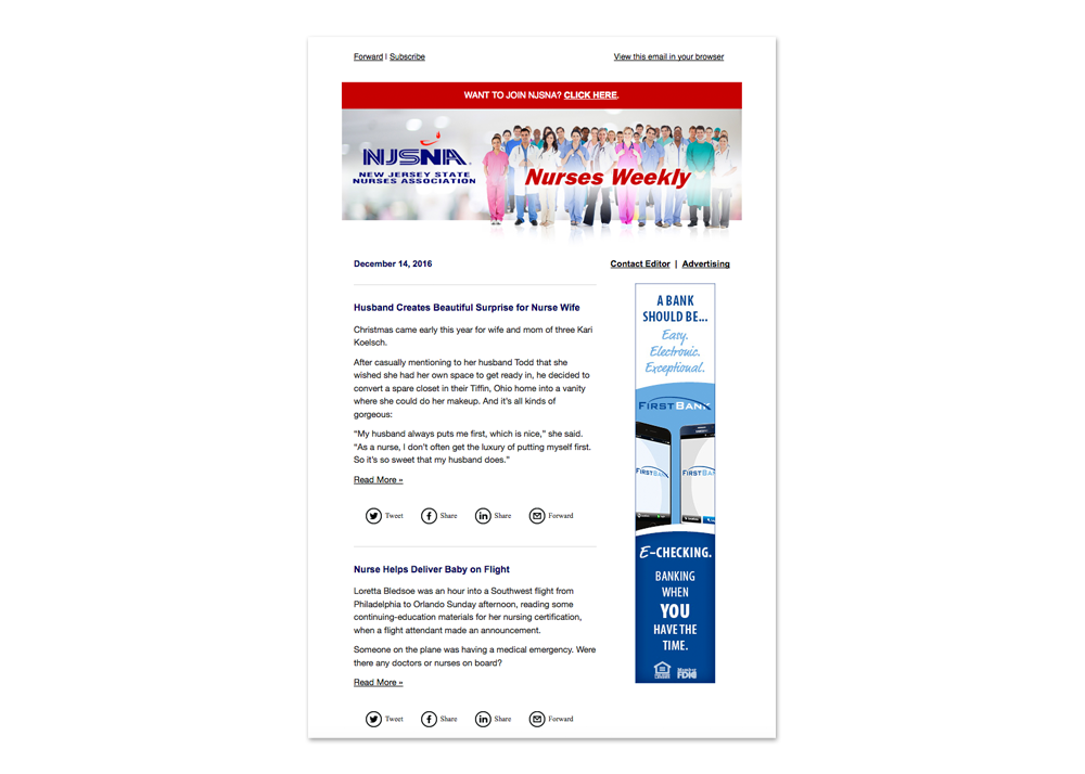 NJSNA Nurses Weekly E-publication designed and maintained by CMA