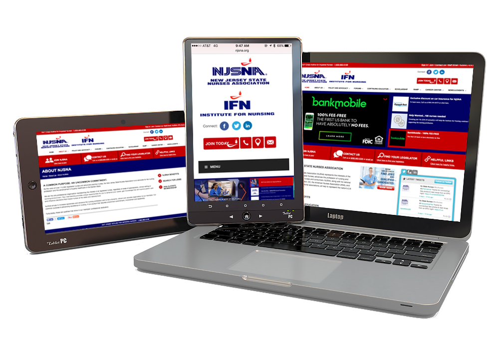 New Jersey State Nurses Assoication Website Designed by CMA