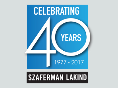 Szaferman Lakind 40th Logo